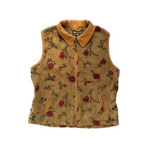 Vintage Woolrich Zip Up Fleece Blanket Vest Gilet Made In USA - Large