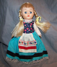 "VINTAGE 7"" HARD & SOFT  PLASTIC DOLL W/MOVABLE ARMS/LEGS~HONG KONG~SCANDINAVIAN"