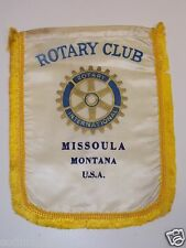 Vintage MISSOULA Montana Rotary International Club Banner Flag RARE