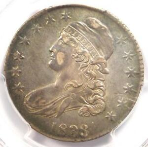 1833 Capped Bust Half Dollar 50C - PCGS AU Details - Rare Certified Coin!