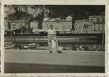 PHOTO ANCIENNE - VINTAGE SNAPSHOT - SOUS MARIN PORT NICE - SUBMARINE PHENIX 1935