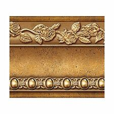 Flower Molding Peel and Stick Wall Border Easy to Apply (Gold B... Free Shipping