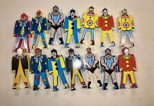 Lot of 14 Vintage Plastic Toy Circus Clowns Strongman Figures