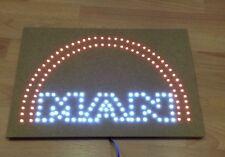 MAN Logo / Schild mit weißen und roten LED / 24 Volt