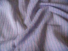 Algodón De Gasa Color Tejida stripe-indigo/red-dress/craft fabric-free de envío