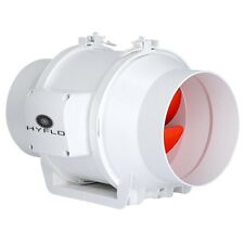 Exhaust Fan Inline Hot or Cold Air Transfer Extraction 15cm Mixflow HyFlo 6 Inch
