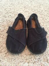 Girls Size 5.5 Black Toms Shoes