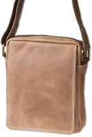 Rinaldo® Umhängetasche / Messenger aus naturbelassenem Leder in Braun