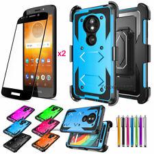For Motorola Moto E5/Go/Play/Plus/Cruise/Supra Hybrid Phone Hard Case Cover Skin