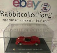 "DIE CAST ""2000 SPORT SPIDER MC (SE 04/L) - 1967"" + TECA RIGIDA BOX 2 SCALA 1/43"