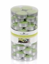 Pack of 48 Lemongrass Tealight Candles Highly Scented, Candles Gift Set