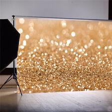 7X5FT Gold Glitter Sequin Wedding Background Backdrop Vinyl Photo Studio Props