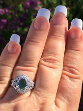 18K GOLD 3.14 CT GIA CERTIFIED BLUE GREEN TO PURPLE ALEXANDRITE DIAMOND RING!!!
