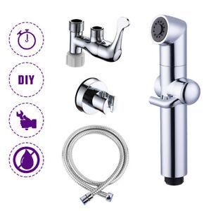 Bidet Sprayer for ToiletCloth Diaper Wash Portable Shower Sprayer Brushed Nickel
