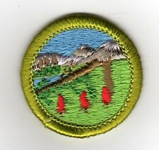 Wilderness Survival Merit Badge, Type H, Clear Plastic Back (1973 - 2002), Mint!