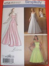 Simplicity 4258 Wedding Gown Bridesmaid Formal Dress Pattern 8-16 Evening / Prom