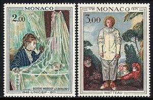 Mónaco 815-816, MNH Paintings. Por Berthe Morisot & Jean Antoine Watteau, 1972