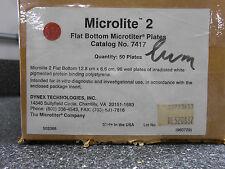 DYNEX 7417 MICROTITER '2' 96 WELL FLAT BOTTOM PLATES 50/cs