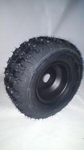Komplettrad Felge mit Reifen Quadreifen Quad Quadfelge 3-Loch 18x9,5-8 schwarz