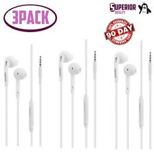 3pack OEM for Samsung Galaxy S3 S4 S5 S65 S6 Note 5 In-Ear Headphones W/ Mic
