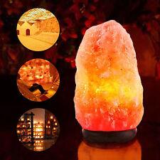 Himalayan Natural Ionic Crystal Salt Rock Light Bulb Lamp Air Purifier Home New