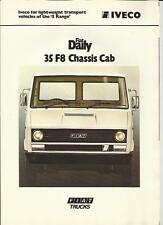 IVECO FIAT DAILY 35 F8 CHASSIS CAB  TRUCK LORRY 1978 1979 SALES  BROCHURE
