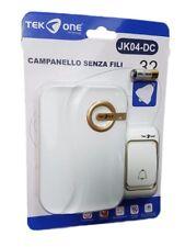 Campanello Wireless Senza Fili 32 Melodie TeKone Jk04-dc Casa Esterno Porta hsb