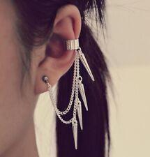 Earrings Womens Mens Studs Silver Cross Gothic Punk Ear Cuff Wrap Clips