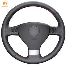 Black Leather Steering Wheel Cover for VW Golf 5 Mk5 Passat B6 Tiguan Jetta 5
