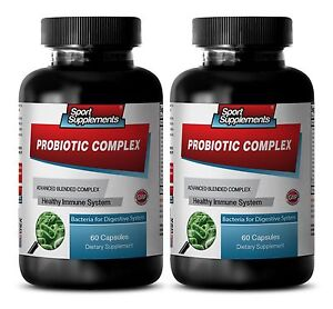 Probiotic. Advanced  Complex 40 Billion CFUs - Healthy Digestive System Caps 2B