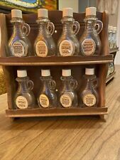 Vintage  8 Watkins 2 oz. extract flavor glass bottles Old With Shelf Shabby Chic
