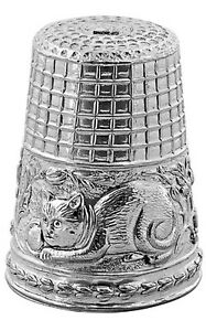 CAT THIMBLE STERLING SILVER 925 HALLMARKED NEW FROM ARI D NORMAN