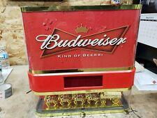 Anheuser Busch Budweiser Clydesdale Showcase Digital Clock good Condition.