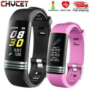 new Smartwatch Fitness Bracelet Body Thermometer Smart Bracelet Fitness Tracker⚡