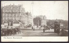 Bournemouth. Tram & Horse Drawn Carriages in The Square. 1925 Postmark Postcard