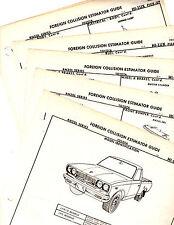 1972 1973 1974 1975 TOYOTA HILUX PICKUP BODY FRAME ORIGINAL CRASH SHEETS MF 2