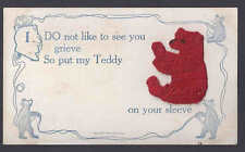 1908 TEDDY BEAR-RED, EMBROIDED