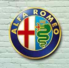 LOGO ALFA ROMEO 2FT GRANDE Garage Segno Muro Placca Classic AUTO SPIDER 155 75 GT
