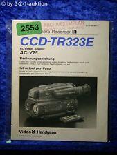 Sony Bedienungsanleitung CCD TR323E Video 8 Camera Recorder (#2553)
