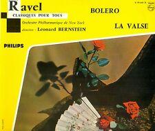 """CLASSIQUES POUR TOUS RAVEL BOLERO LA VALSE LEONARD BERNSTEIN 10"""" LP (L1912)"""