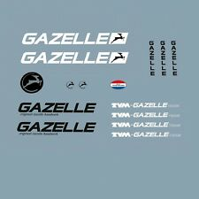 Gazelle TVM Team Bicycle Decals, Transfers, Stickers n.300