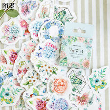 46pcs Korean Japanese Journal Paper Diary Flower Stickers DIY School Supplies