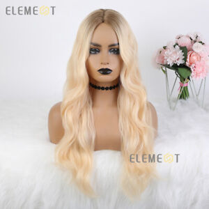 Long Wavy Ombre BLONDE Hair Wigs for Women Daily Party Cosplay WIG STORE