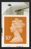 GB 2011 sg U3058 10p Dull Orange s/a Morris booklet stamp MNH ex U2994