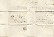 Carta prefilatélica. Monforte, 4 de Abril de 1832.