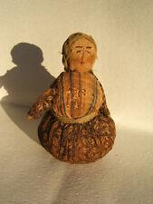 Antique Primitive Folk Art Doll Print Clothing