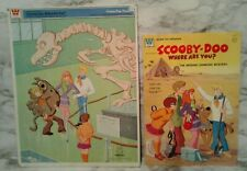 1970 SCOOBY DOO Whitman Hanna Barbera Frame Tray PUZZLE & STICKER Coloring Book