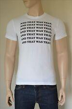 """Nueva Abercrombie & Fitch mensaje """"y que fue que"""" Gráfico Camiseta Blanco T-Shirt L"""