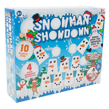 Snowman Showdown Pyramid Cup Challenge Game - Christmas Family Fun