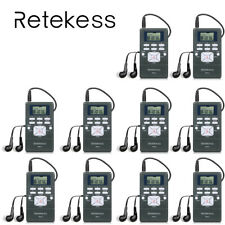 10* Retekess Portable FM Radio Receiver Digital Clock DSP for Wireless Meeting